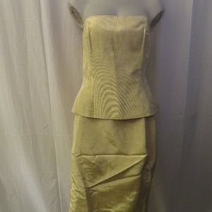 ESCADA COUTURE GOLD BUSTIER 38/8 SKIRT 42/12 SUIT